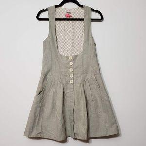 Nanette Lepore Sparkle Button Steampunk Dress sz 4
